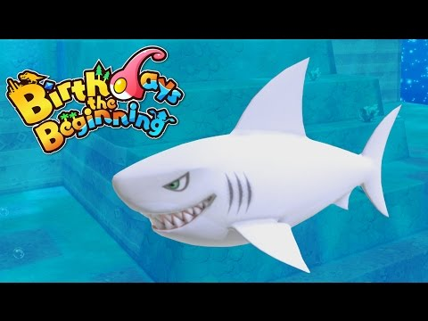 Megalodons and Great White Sharks! - Let's Play Birthday's The Beginnings Gameplay