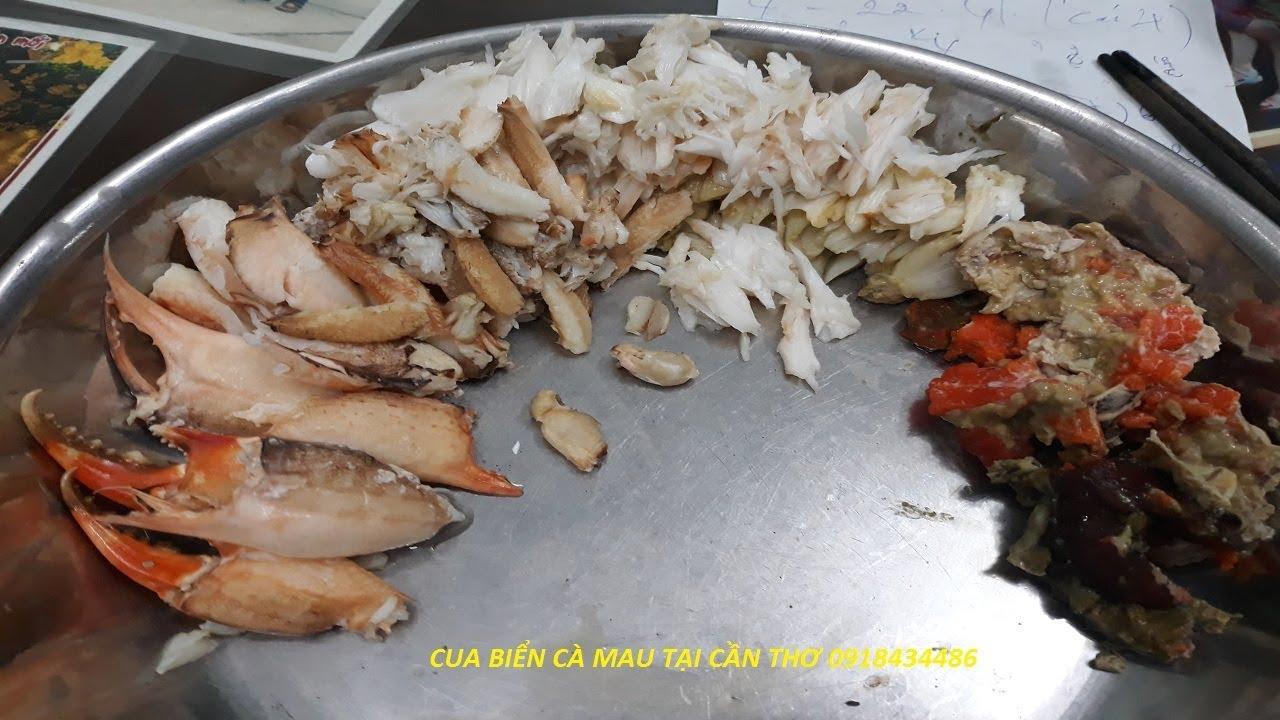 Cách gỡ thịt cua biển tại shop Anh Thái – Cua Biển Cà Mau Tại Cần Thơ