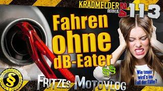 Fahren ohne dB-Eater ✫ Was tut die Polizei bei erloschener Betriebserlaubnis vom Motorrad? ◙ MV113