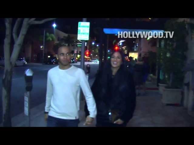 Nicole Scherzinger and Lewis Hamilton dine at Mastros Steakhouse