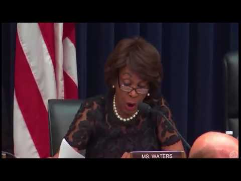 Maxine Waters Grills  Treasury Secretary Steven Mnuchin On Russia & Trump