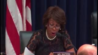 Maxine Waters Grills  Treasury Secretary Steven Mnuchin On Russia & Trump