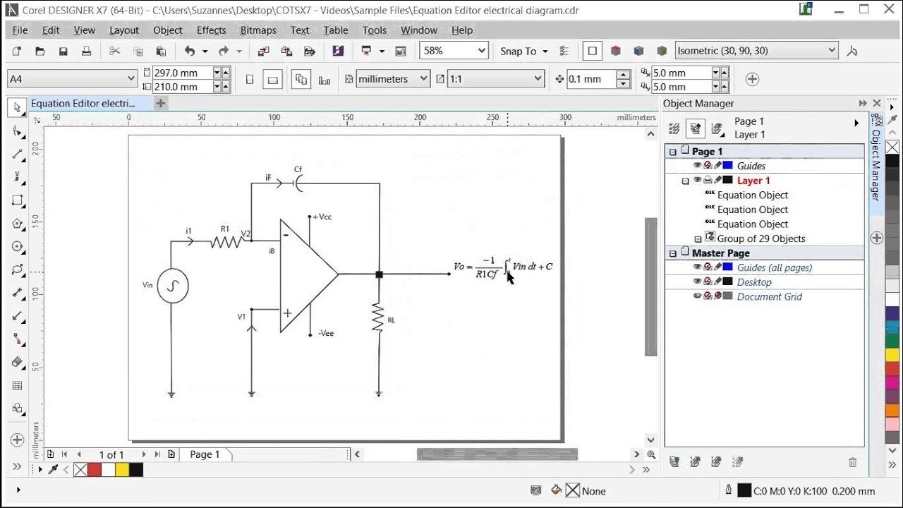 Inserting And Editing Equations In Corel Designer Youtube