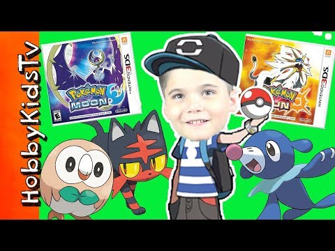 HobbyPig Plays 3DS Pokemon Sun and Moon