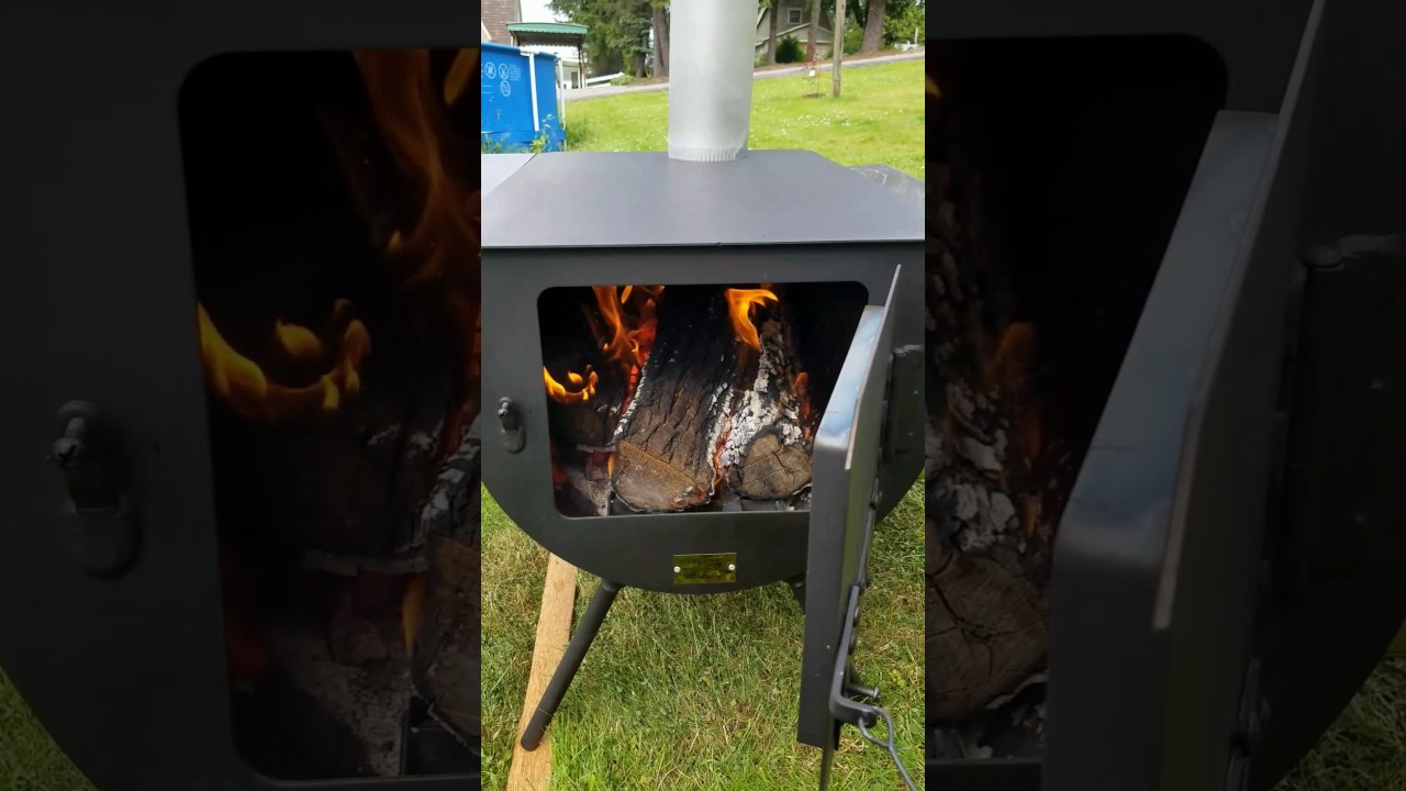 Davis wall tent wood stove review & Davis wall tent wood stove review - YouTube