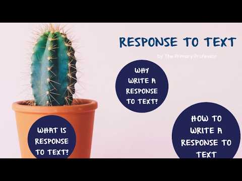 Reading Response: What Is Response To Text Writing?