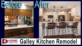 Before & After Galley Kitchen Remodel by KLM Kitchens Baths Floors | Kitchen Design Ideas