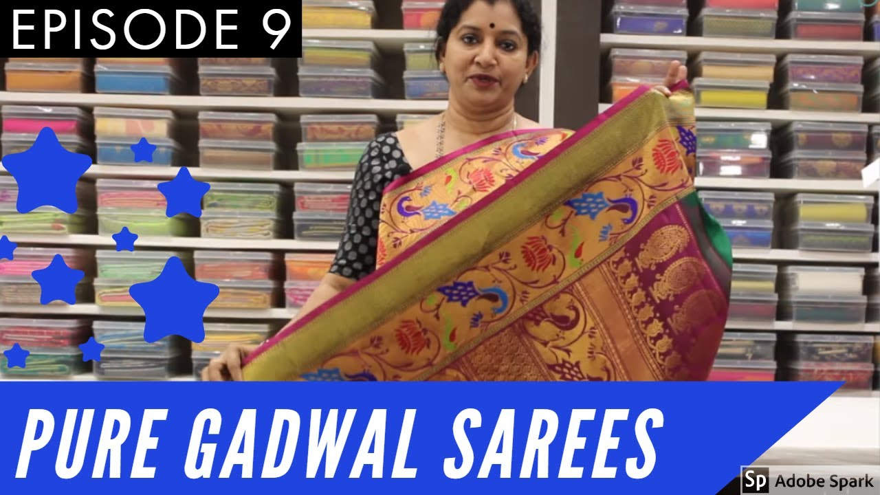 Pure Gadwal Sarees Gayathri Reddy Traditional Designer Studio Eps 9 Sainikpuri Boutique Handloom Youtube