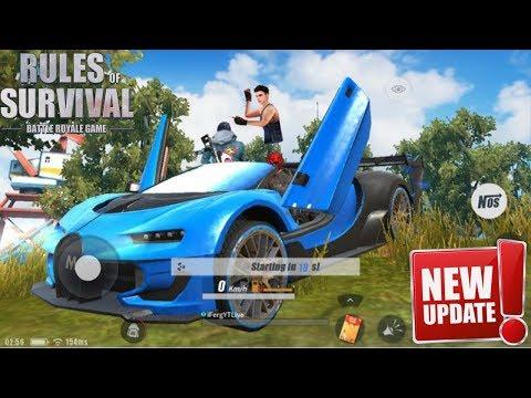 I GOT THE NEW BUGATTI CAR SKIN in Rules Of Survival ! New Update Hype !