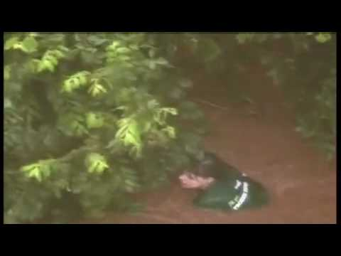 Girl being rescued from Oklahoma flash floods