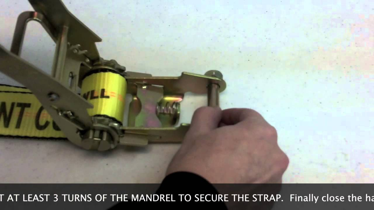 How To Thread A Ratchet Strap Youtube