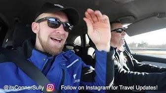 My Dad DRIVES on GERMAN AUTOBAHN + EATS GERMAN FOOD!!