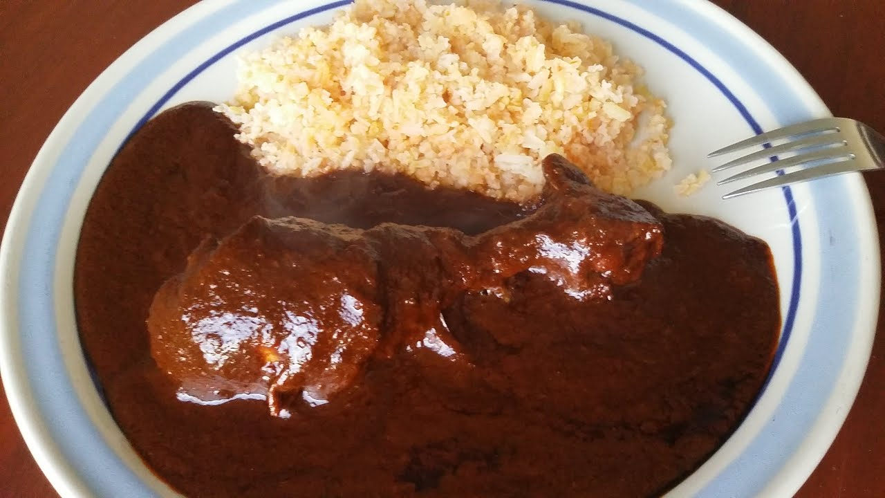 Receta sencilla del tradicional mole poblano mima comida for Comida facil y sencilla