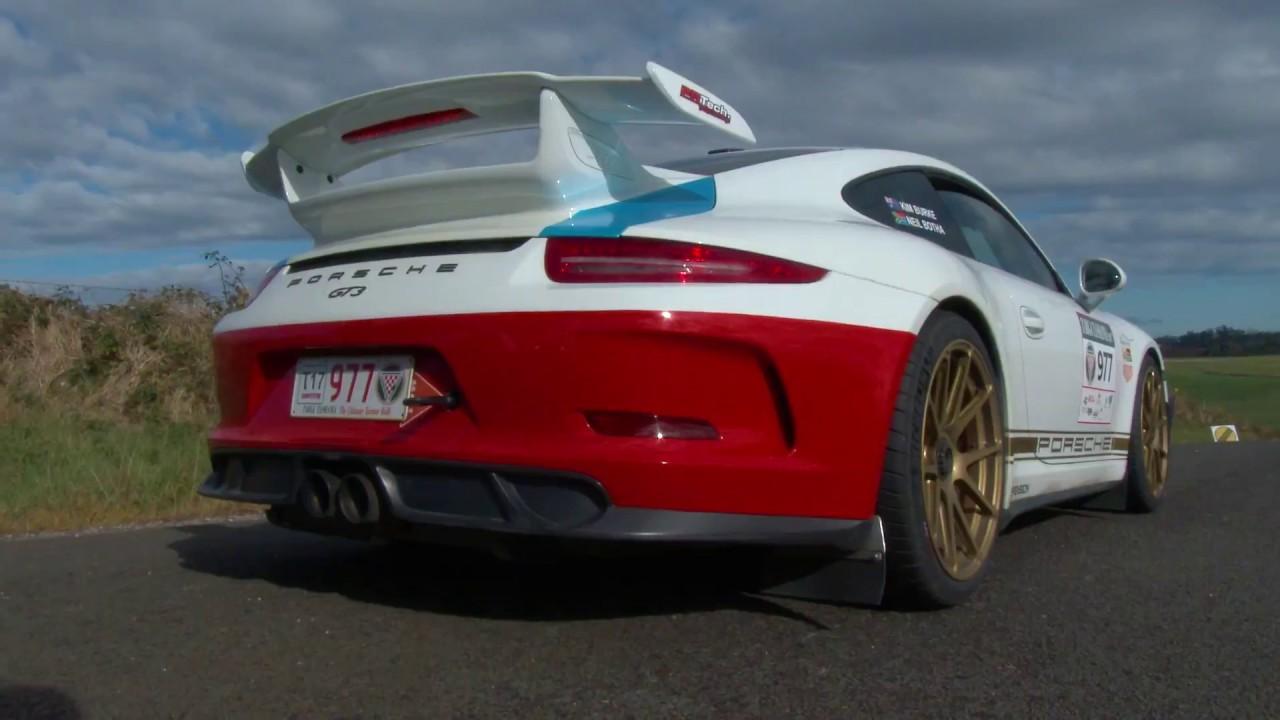 Targa Tasmania 2017 Porsche 911 Gt3 Pure Sound Youtube