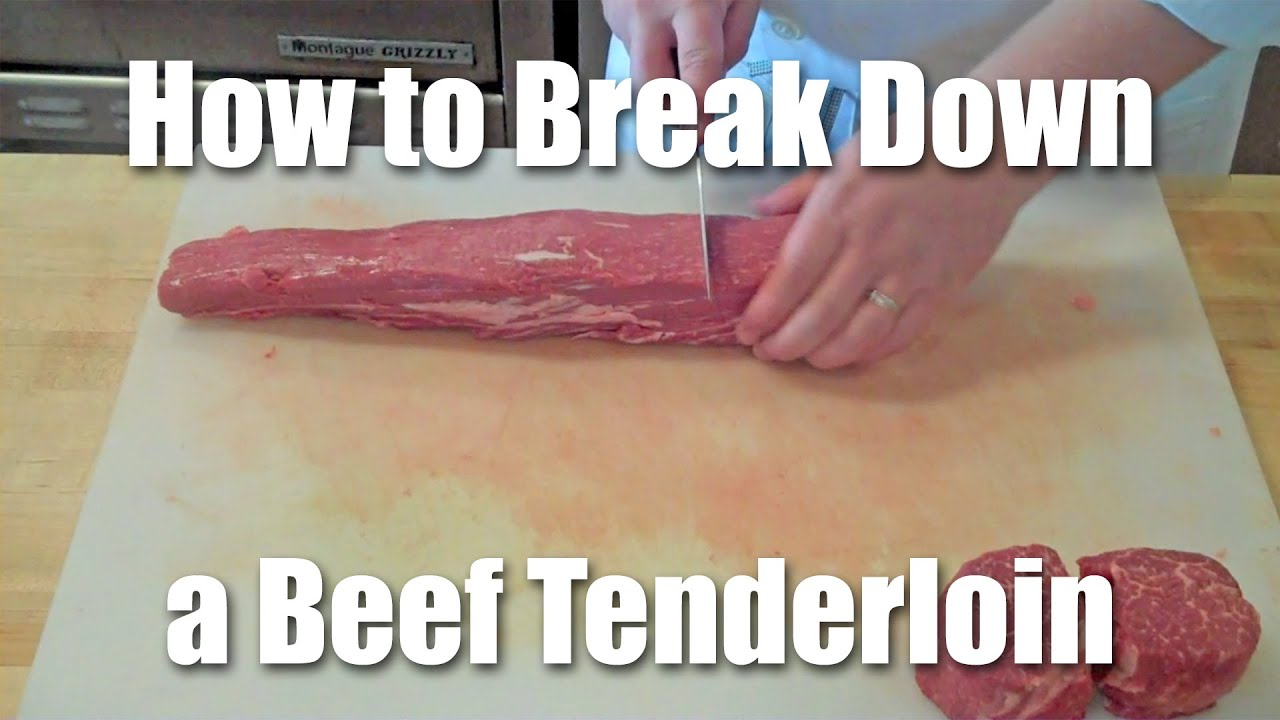 hight resolution of how to butcher a beef tenderloin
