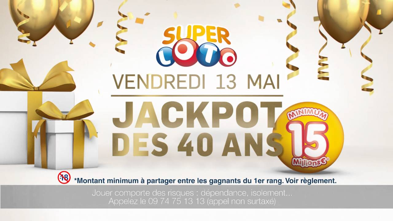 vendredi 13 mai jackpot loto des 40 ans youtube. Black Bedroom Furniture Sets. Home Design Ideas