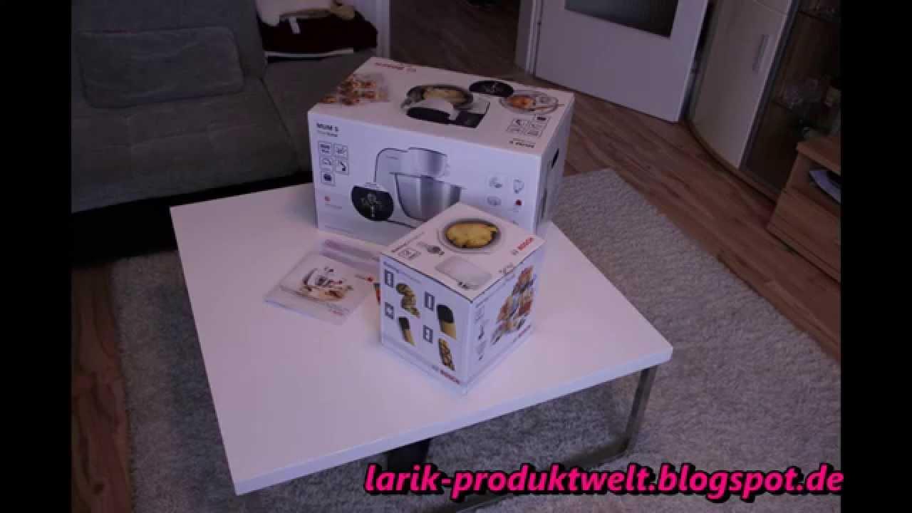 bosch mum5 und das bakingsensation-set unboxing - youtube