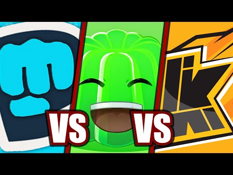 PEWDIEPIE vs. JELLY vs. KWEBBELKOP (Lethal League) |