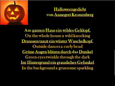 halloweengedicht annegret kronenberg youtube. Black Bedroom Furniture Sets. Home Design Ideas