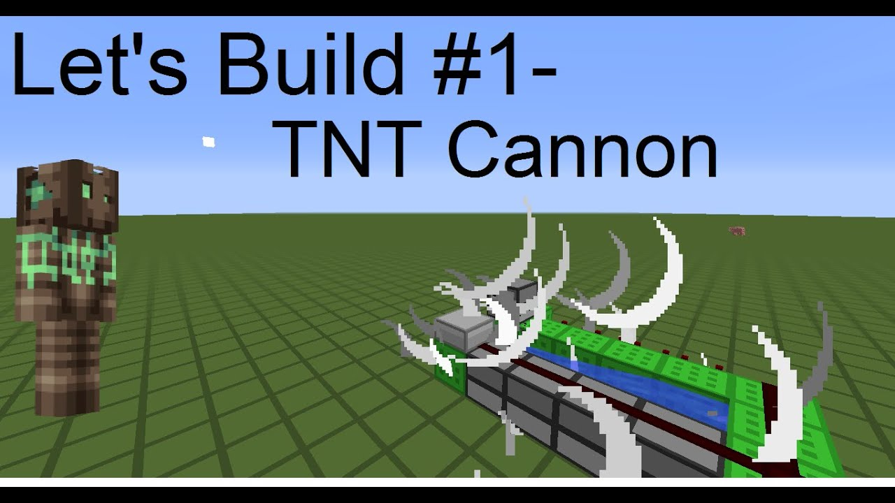 how to make a simple tnt cannon 1.8