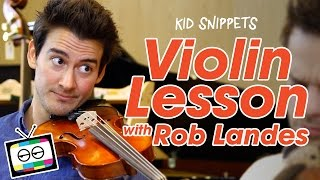Video Violin Lesson with Rob Landes - Kid Snippets download MP3, 3GP, MP4, WEBM, AVI, FLV Desember 2017