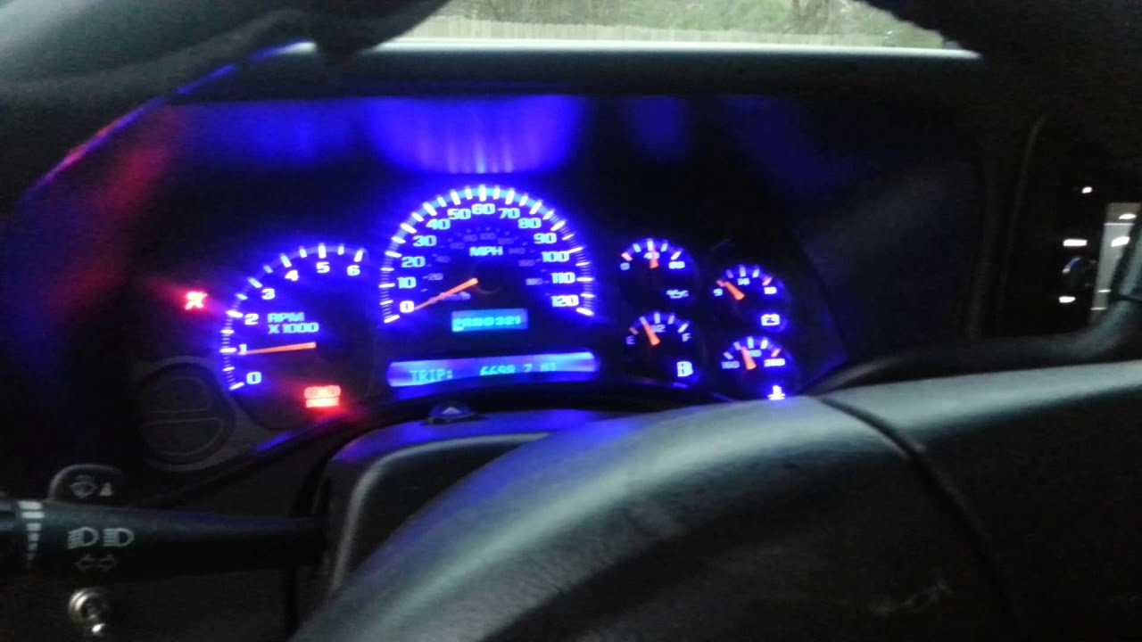 Chevrolet Silverado Dashboard Gauge Led Conversion Youtube
