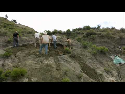 Overburden Time Lapse, Hell Creek 2014