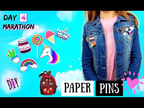 DIY PINS With PAPER And HOT GLUE - Outfit Girl Hacks Easy