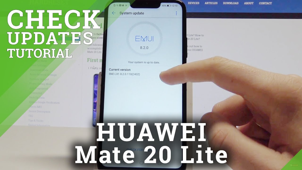 How to Check for Updates in HUAWEI Mate 20 Lite - EMUI Current Version