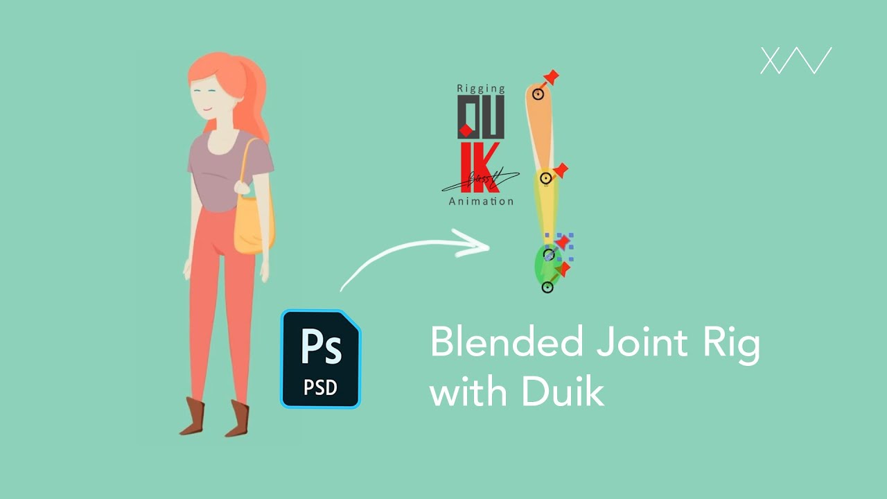 Tutorial : Blended Joint Rig with Duik in After Effects