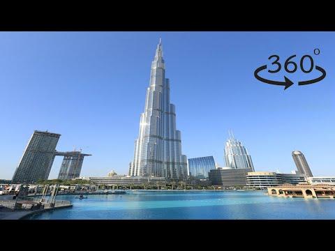 Walking around Burj Khalifa, Dubai. Insta360 One X VR Tour