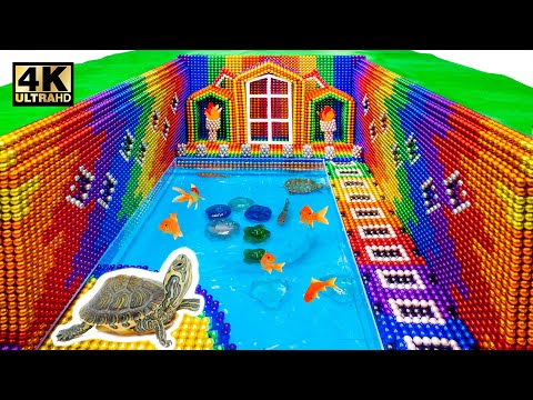 DIY - How To Build Swimming Pool Turtle Around The Secret Underground House (Satisfying) | MW Series