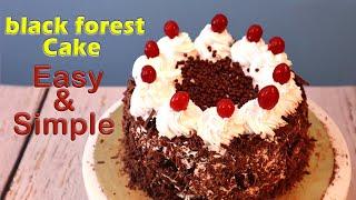 Black Forest Cake   Eggless Cake  Birthday Cake Recipe by Tick Tock Kitchen