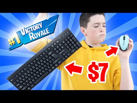 I WON WITH A $7 MOUSE & KEYBOARD ON FORTNITE!!