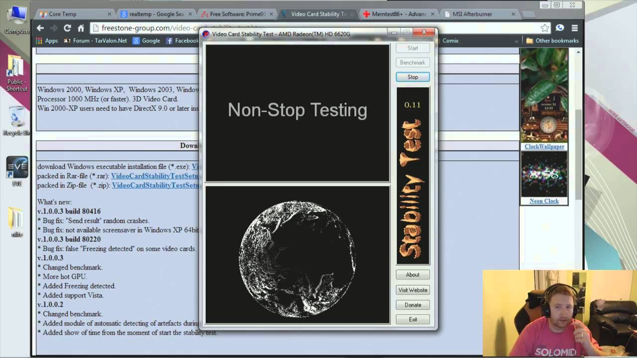Video Card Ility Test Stress