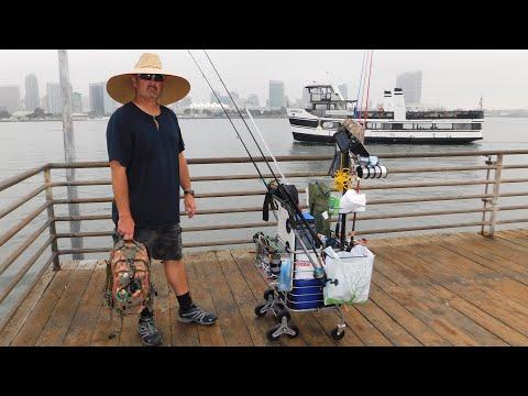 San Diego's Best Fishing Cart (Angry fisherman vs kayakers)