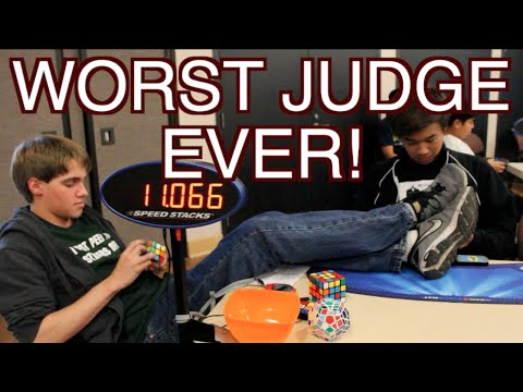 World's Worst Rubik's Cube Judge!  EVER! -- ColorfulPockets
