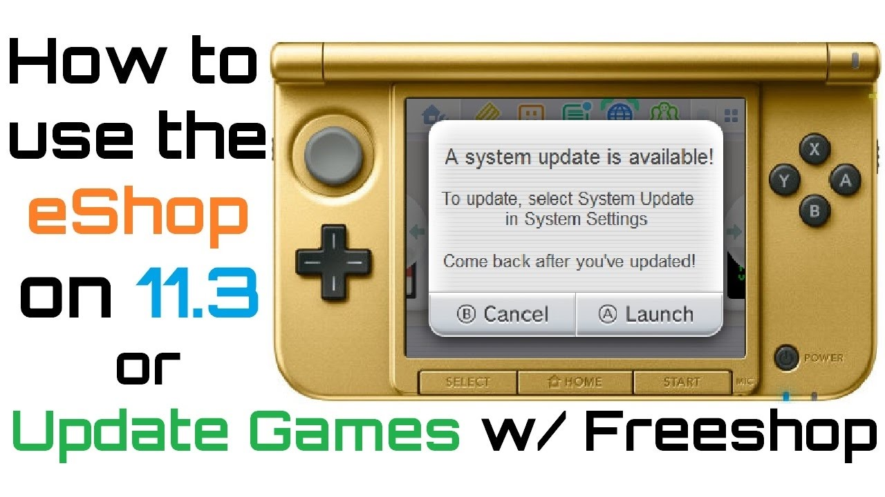 How to Update Games & Access eShop - 11 3 0 CFW - Avoid 11 4 Update with  ctr-httpwn- n3DS & o3DS