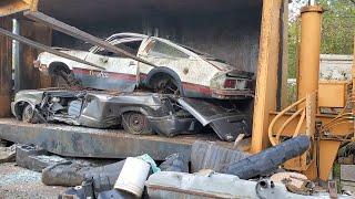 Car Crusher Crushing Cars 87 1979 oldsmobile starfire firenza