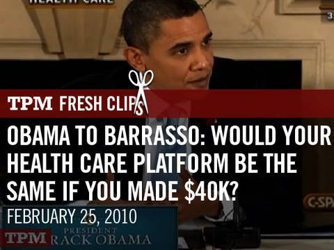 Obama To Barrasso: Would Your Health Care Platform Be The Same If You Made $40K?