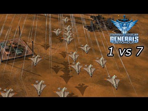 [C\u0026C Zero Hour] - 1vs7 - Airforce Vs 7 Infantry - Hard Difficulty
