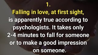 Psychological facts about love -