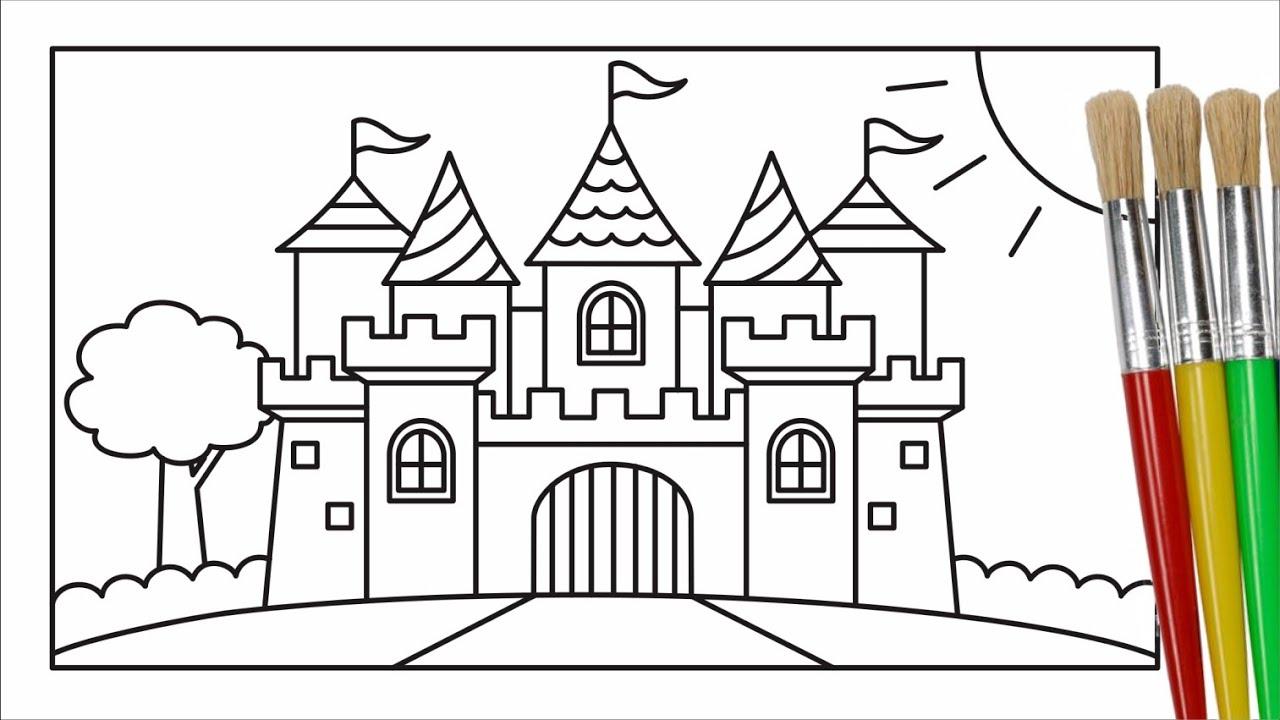 Cara Menggambar Dan Mewarnai Istana