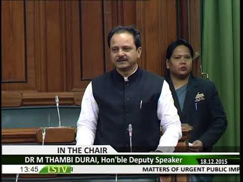 Need to build a central data centre for keeping records of criminals  : MP Dr Manoj Rajoria in LS
