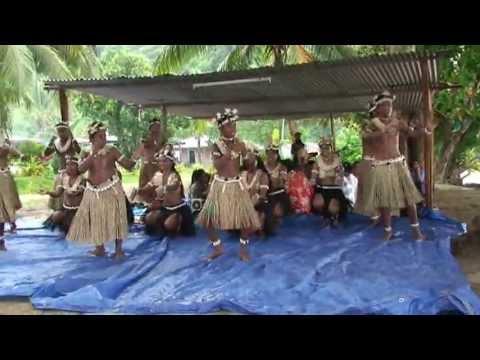 Rabi village dancing, Fiji, Tui Tai cruise.