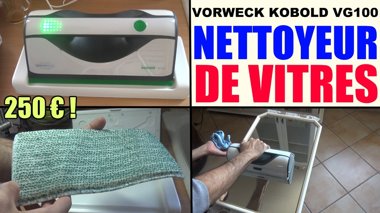 nettoyeur de vitres vorwerk kobold vg100 window vacuum cleaner akku fenstersauger youtube. Black Bedroom Furniture Sets. Home Design Ideas