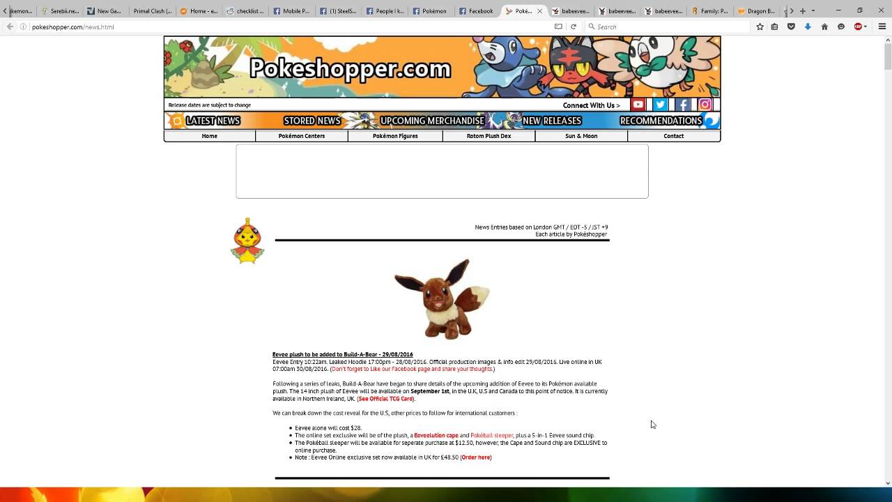 Update To Eevee Build A Bear Plushie And Promo