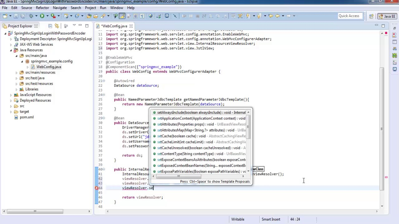 Spring 4 MVC Signup Login Logout Form with password encoder - Spring MVC  Tutorial for Beginners