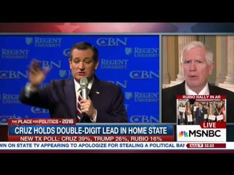 Mo Brooks on MSNBC | February 29, 2016 | Ted Cruz for President