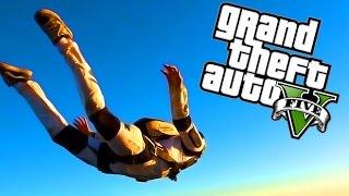 GTA 5 AMAZING SKYDIVE STUNT MONTAGE! (GTA 5 Stunting)